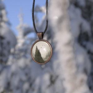 forest-pendant-naszyjnik-las-akwarela