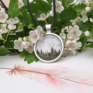 mountains pendant handmade rękodzieło wisior góry
