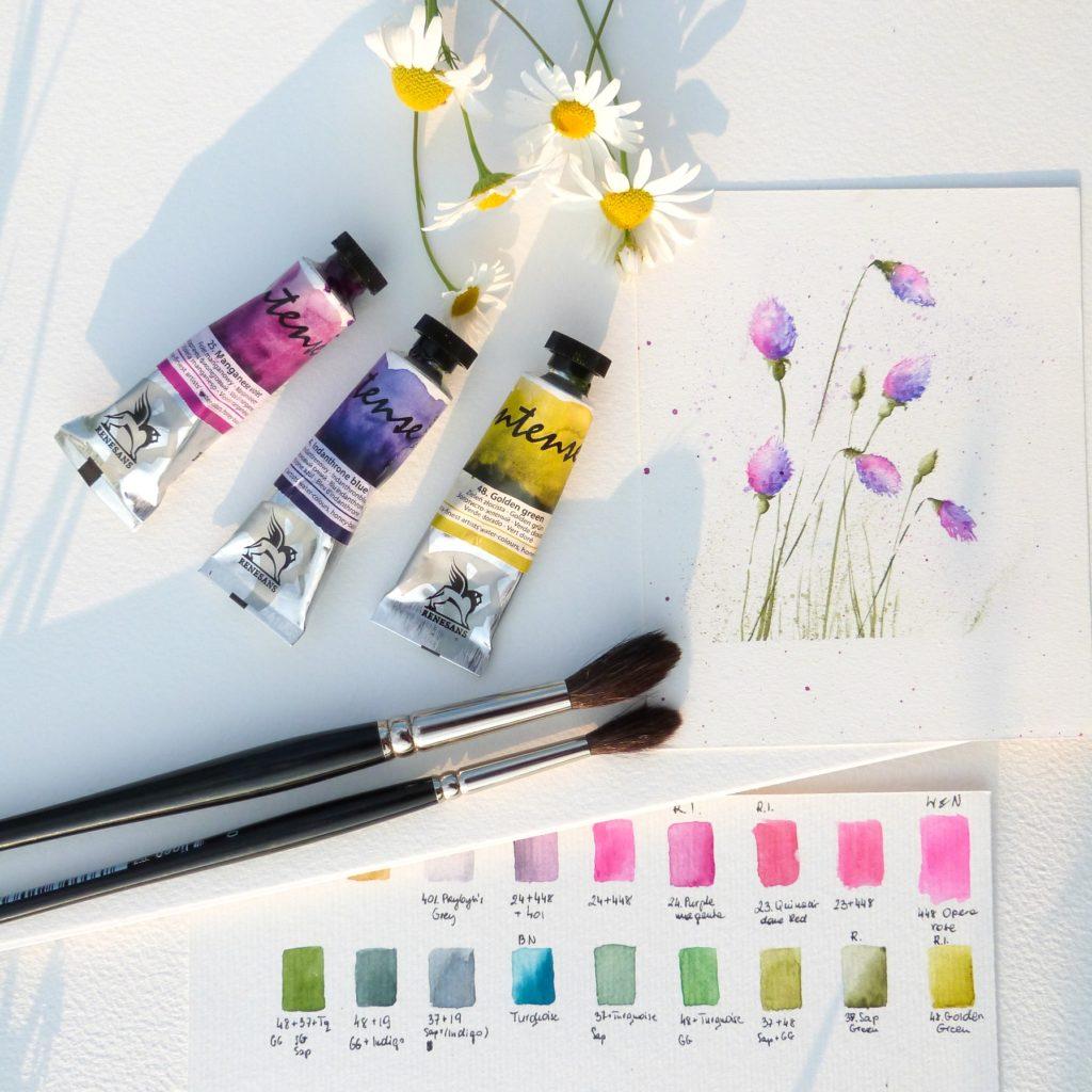 malowanie akwarelami jak zacząć