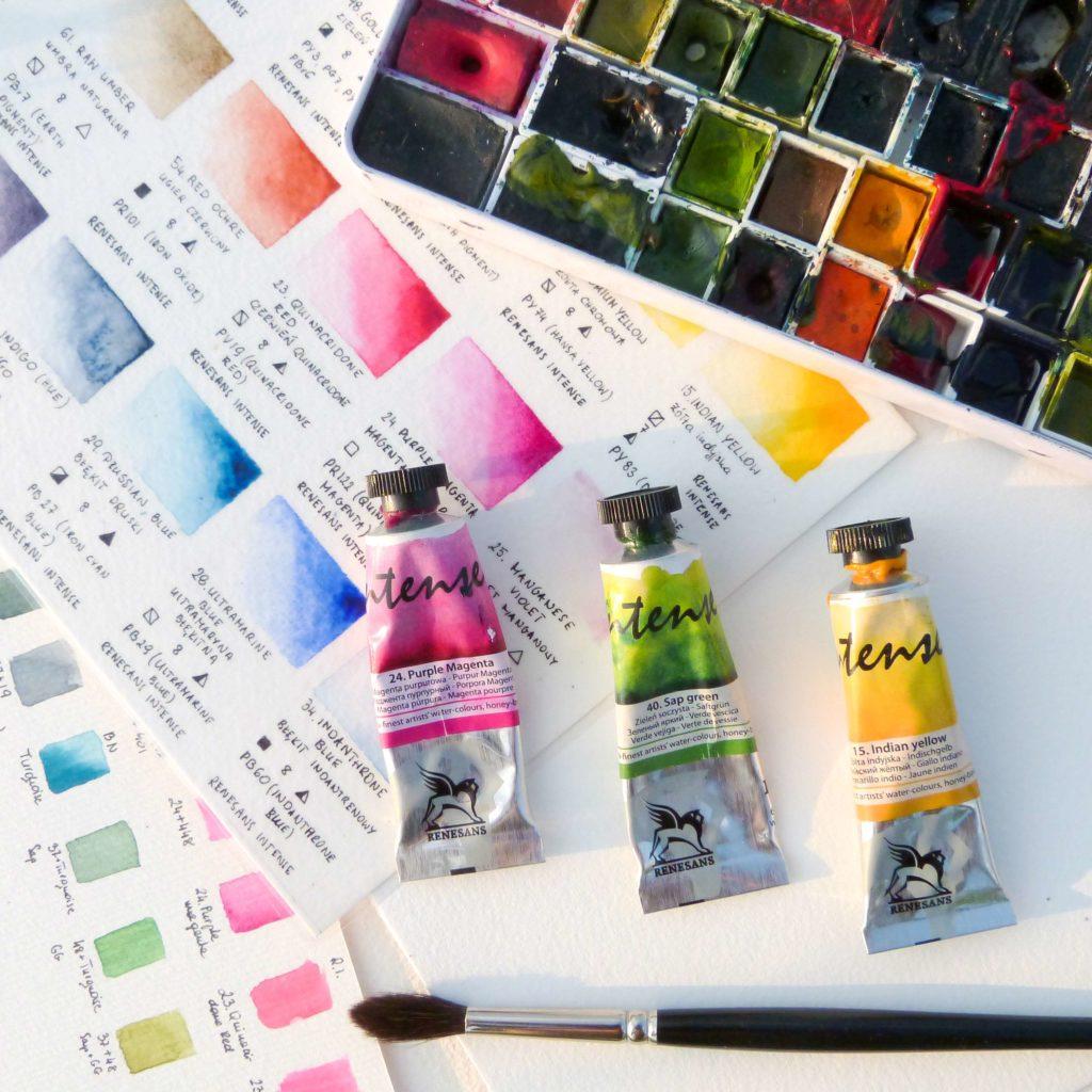 Jak wybrać pierwsze akwarele? Kostki czytubki? Gotowy zestaw czypojedyncze kolory?